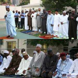 Saraki Prays With Other Senators In Lagos (Photos)